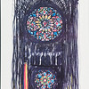 Rose Windows, St. John the Divine, N.Y.<br /> by Tom W.Shefelman<br /> Color Markers on Foam Board