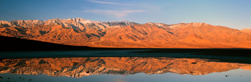 Panamint Mountains reflected in Badwater, Death Valley