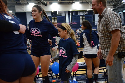 OE Varsity Girls Volleyball Vs Oswego ( Volley for a Cure) 2016