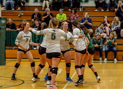 Set three: Vashon Island High School Varsity Volleyball v Chimacum 09/20/2018