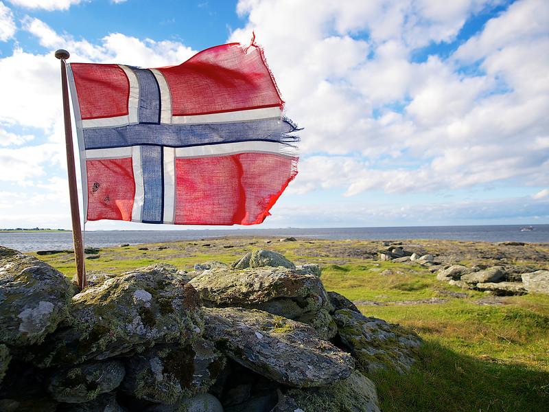 Norske flagg - Foto: Geir