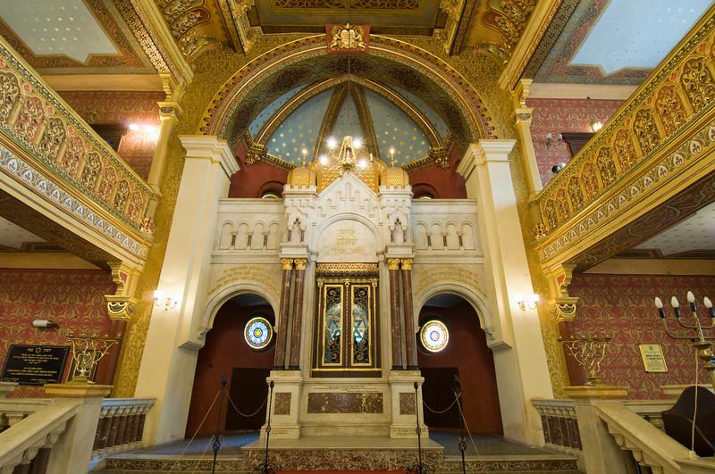 Interior of Tempel Synagogue, Kazimierz, Cracow, Poland