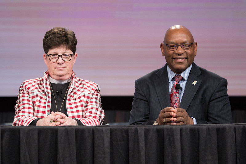 081216 - New Orleans, LA - Press conference to introduce the new ELCA Vice President, William Horne, pictured with Bp. Eaton.