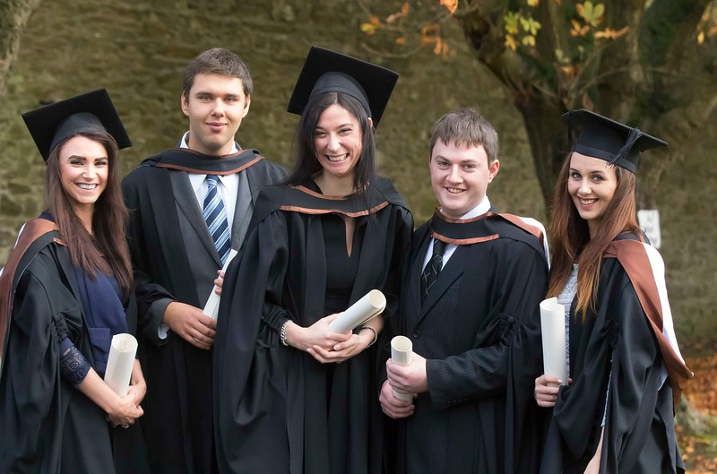 28/10/2015. Waterford Institute of Technology Conferring are Margaret Foskin, Mullinavat, Juozas Strikaitis, Wexford, Anna Olesky, Waterford, Garry Murphy, Wexford, Kamila Morawska, Wexford who graduated Higher Cert in Arts in Legal Studies. Picture: Patrick Browne