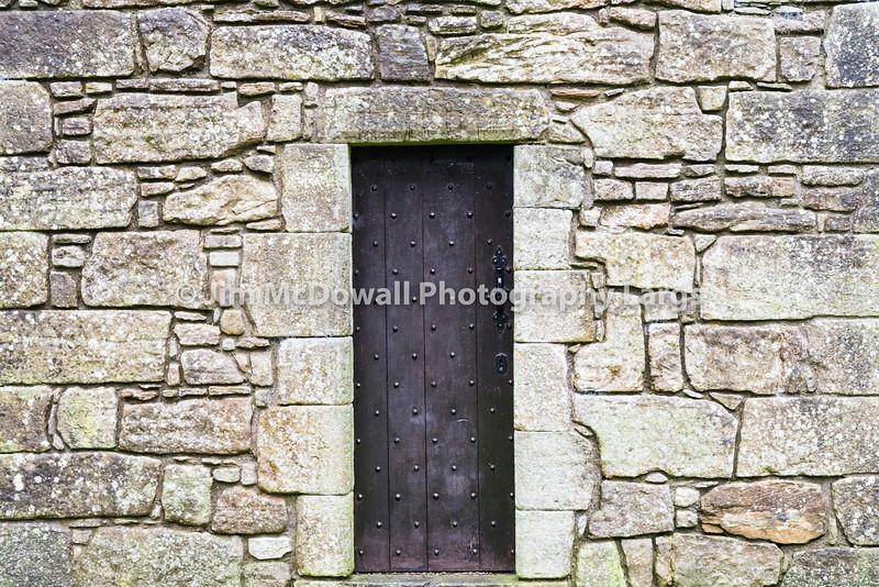 Ancient Studded Wooden Door