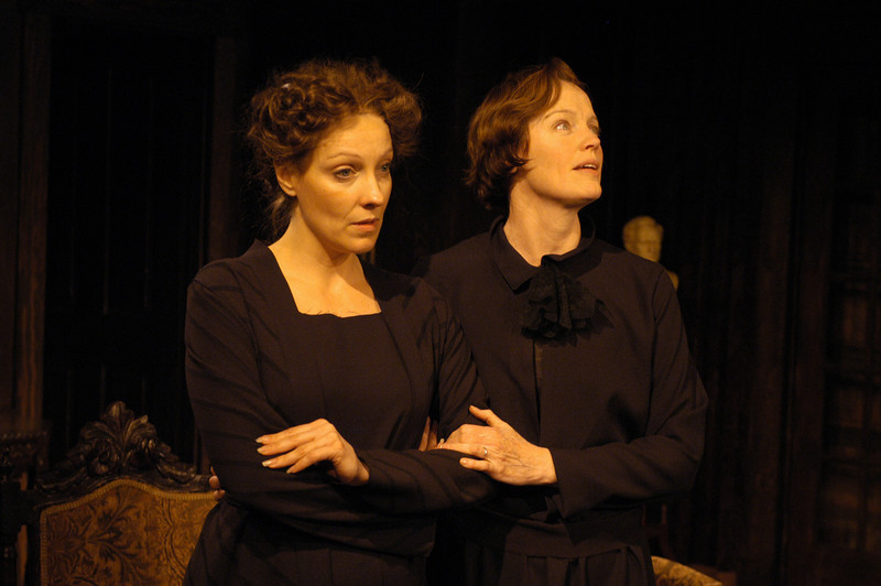 Lisa Bostnar and Kristin Griffith in THE TRUTH ABOUT BLAYDS by A.A. Milne  Photo: Richard Termine