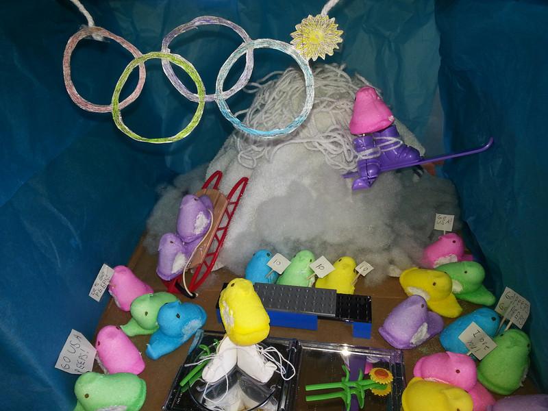 . Favorite winter Olympic Peep Sports. (Elena, 12, and Larsen Pocs, 7)