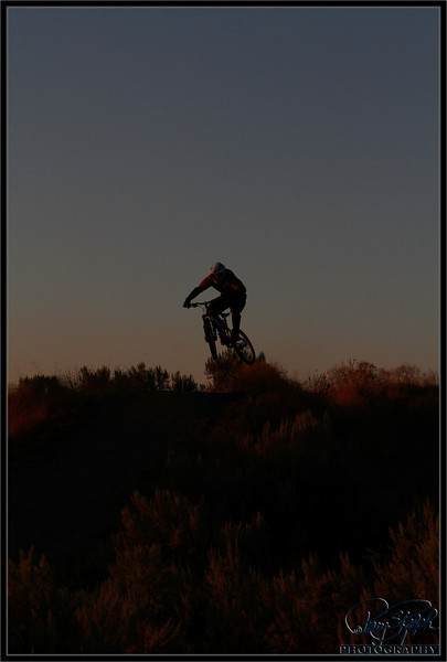 Freeride at dusk
