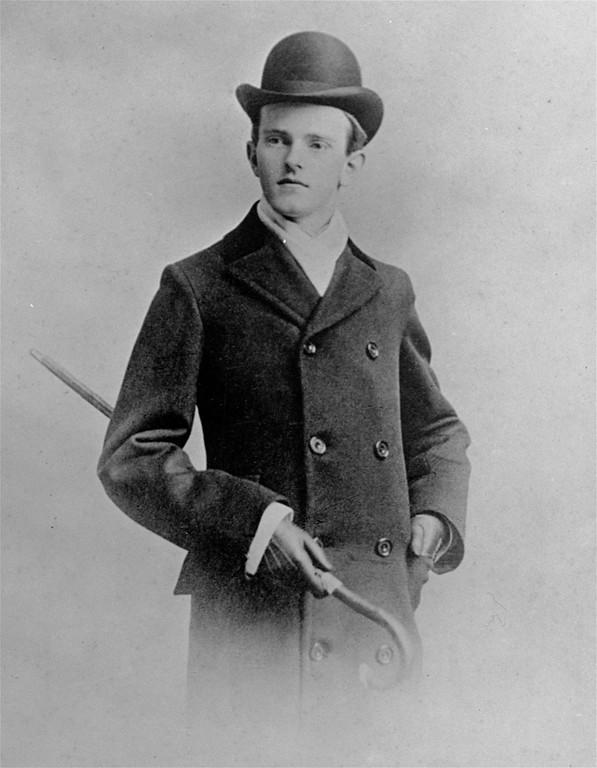 . Calvin Coolidge, portrait, Amherst College, 1895.   (AP Photo)
