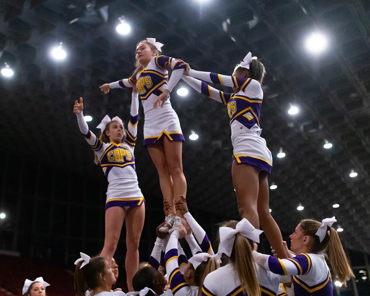 Broughton cheerleading Pre-States. November 16, 2019. D4S_1634