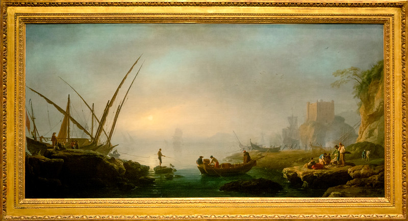 Charles Francois Lecrois de Marseille: View of an Italian Port