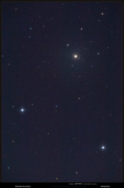 22.9.2021 - Jupiter and Moons meet Deneb Algiedi and Nashira