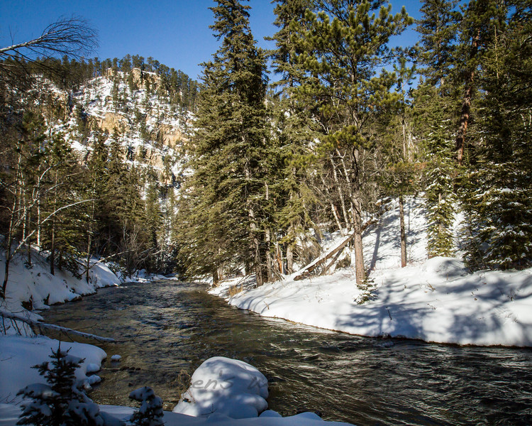 Spearfish Creek in Winter
