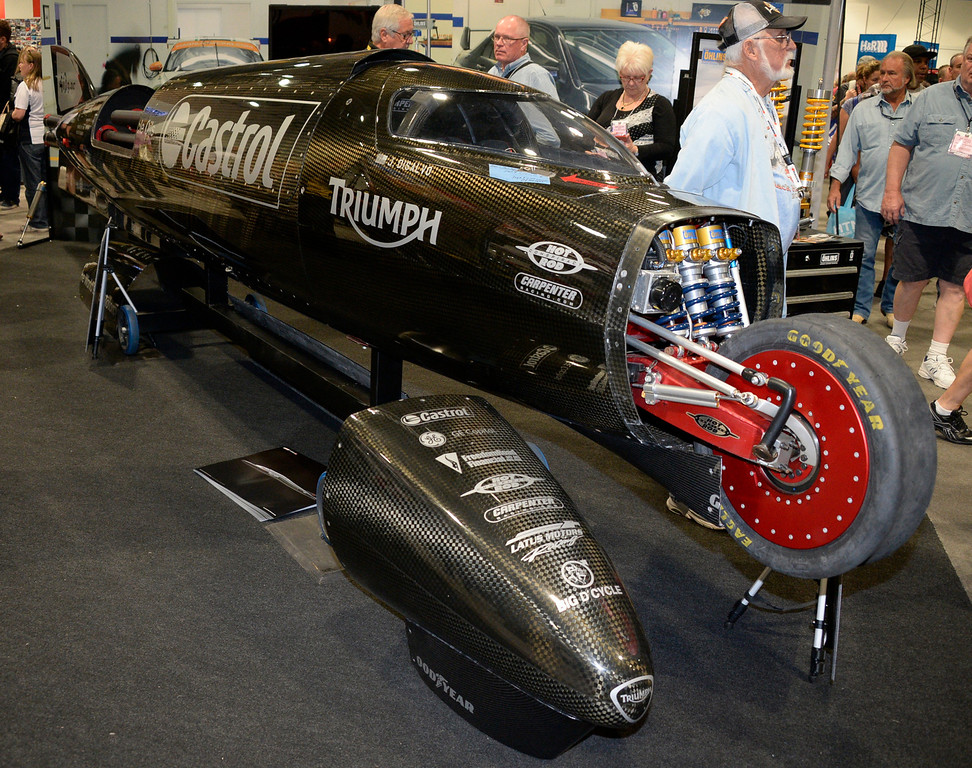 . Nov 5,2013 Las Vegas NV. USA. during the first day of the 2013 SEMA auto show.