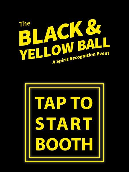BLACK AND YELLOW BALL - SOCIAL BOOTH