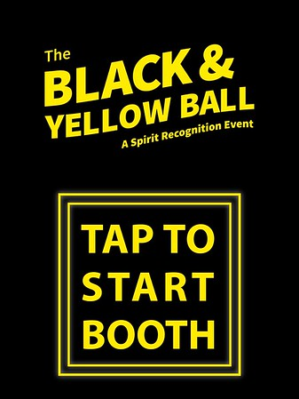 BLACK AND YELLOW BALL - SOCIAL BOOTH