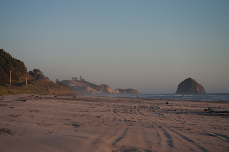 Sunset on the Oregon coast. This photo has a rich history.