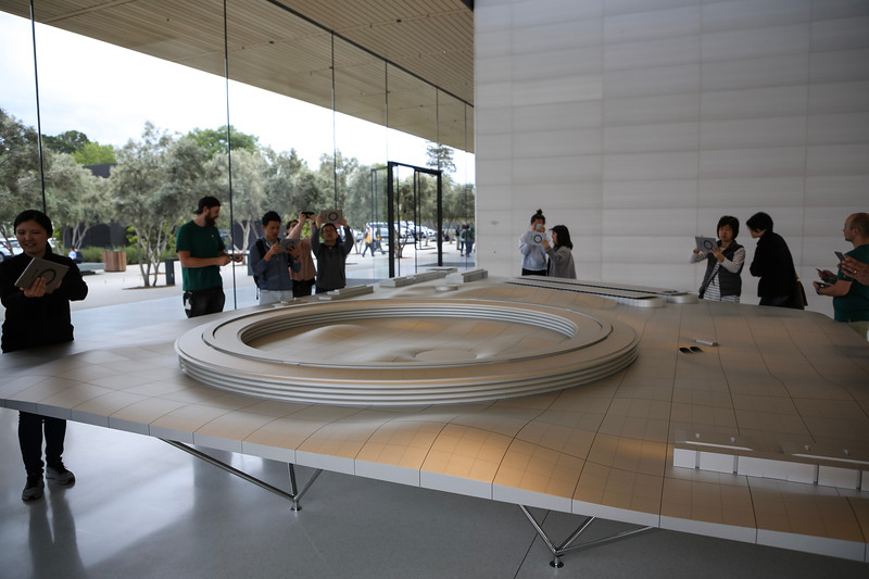 AR exhibit of new apple campus using Apple iPads