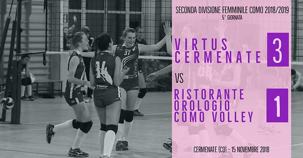 CO-2Df: 5^ Virtus Cermenate - Ristorante Orologio Como Volley