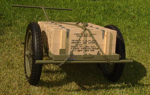 M1A1 CHEMICAL MORTAR & AMMO CART #15
