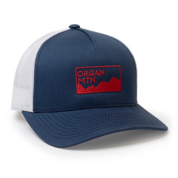 Organ Mountain Outfitters - Outdoor Apparel - Hat - Expedition Snapback Cap - Navy White Red.jpg