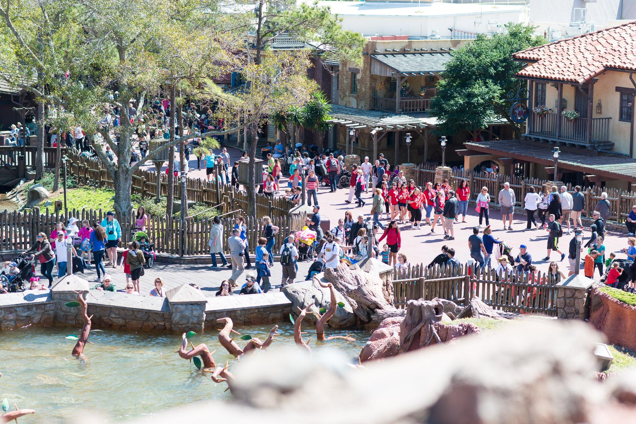 Splash Mountain View - Walt Disney World Magic Kingdom