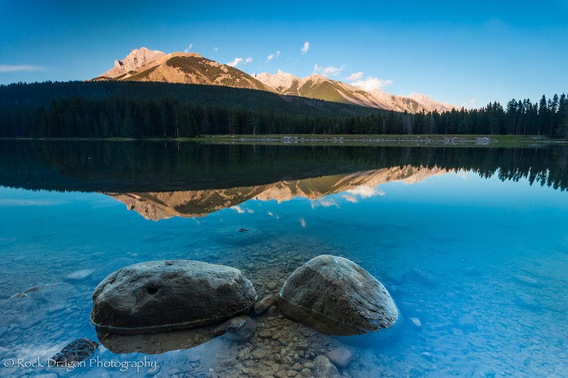 Two Jack lake in Banff National Park.