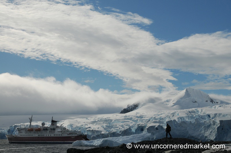 Clouds Clear at Prospect Point in Antarctica