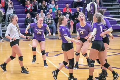 Defiance College Volleyball 10-16-2019