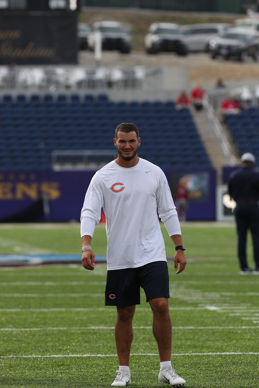 . Tim Phillis - The News-Herald Photos from Mitchell Trubisky and the Bears against the Ravens in the Hall of Fame Game on Aug. 2, 2018, in Canton.