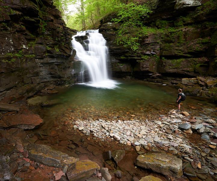 Girl on a Waterfall Adventure