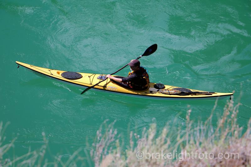Kayaking Miles Canyon