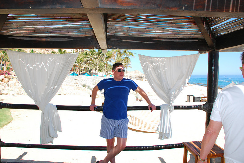 Kevin in the Cabana at Fiesta Americana Hotel and Resort, Cabo San Lucas Mexico