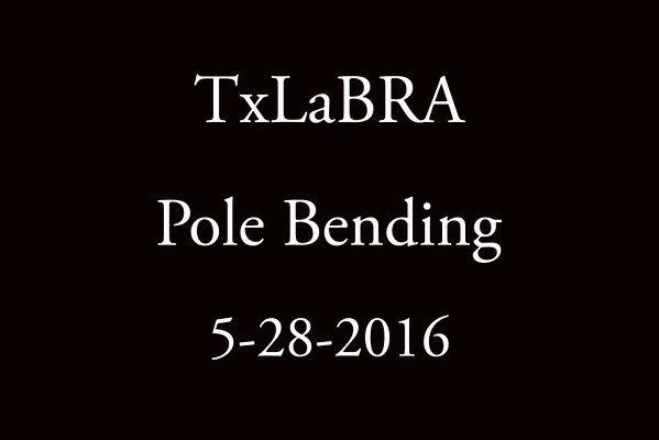 5-28-2016 TxLaBRA  'Pole Bending'