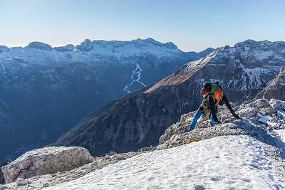 12 31 Trbiska Krniska Spica winter ascent
