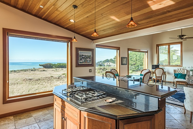Kitchen with Ocean Views