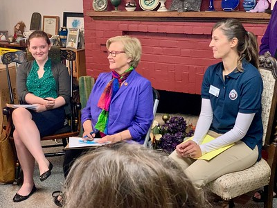 Rep. Pingree visits with AmeriCorps and Senior Corps members