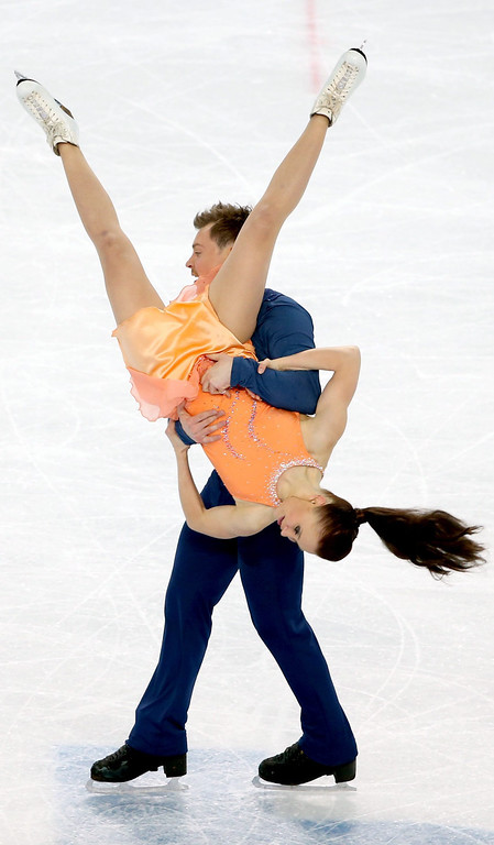 . Julia Zlobina and Alexei Sitnikov of Azerbaijan perform in the Figure Skating Ice Dance Free Dance at the Iceberg Skating Palace during the Sochi 2014 Olympic Games, Sochi, Russia, 17 February 2014.  EPA/TATYANA ZENKOVICH