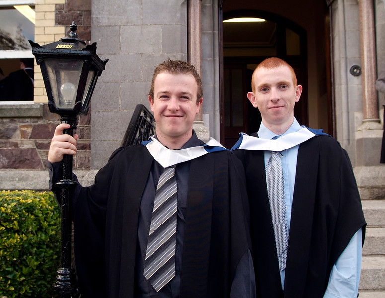 Stephen Halley and Colm Kennedy from Cahir Co. Tipperary who were both conferred with Bachelor of Engineering in Civil Engineering at Waterford Institute of Technology. (pic-photozone)