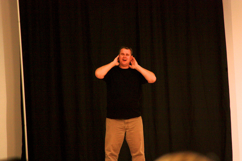 Michael McDaniel performs  during Deaf Performance Night