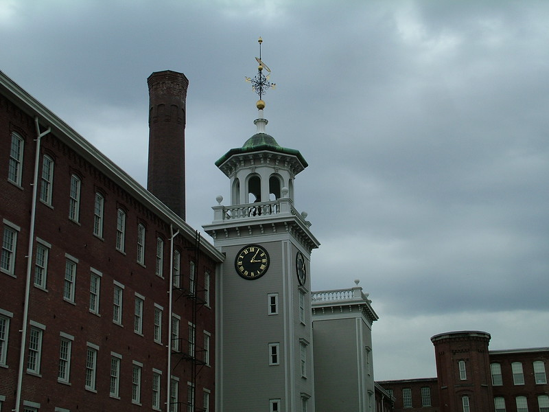 Clock Tower (courtyard) - Boott Cotton Mills - Lowell, MA