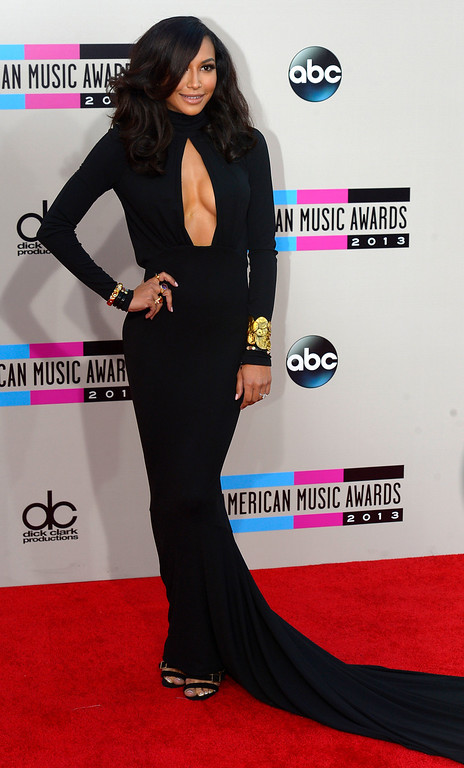 . Naya Rivera arrives to the American Music Awards  at the Nokia Theatre in Los Angeles, California on Sunday November 24, 2013 (Photo by Andy Holzman / Los Angeles Daily News)