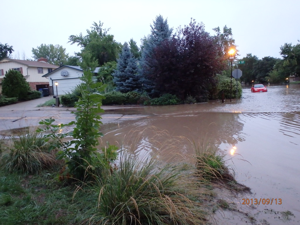 . Flooding in Longmont. Photo by Tammera Bravo