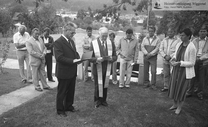 5.9.1985 Einsegnung Friedhof