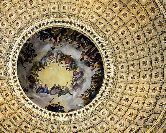 Inside the Capital Rotunda;  Washington DC. September 2013