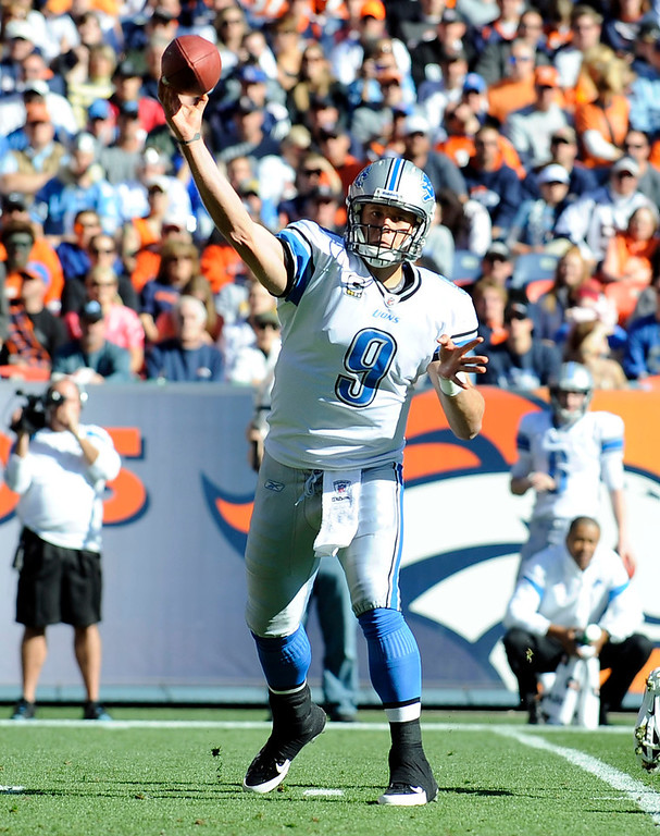 . Matthew Stafford, Georgia Selected first overall by the Lions in 2009 In four seasons in the NFL, Stafford has evolved into one of the game�s most prolific passers. He threw for more than 4,900 yards in both 2011 and 2012, leading the NFL in pass attempts in both seasons. However, after a 10-6 season and playoff appearance in 2011, Stafford�s Lions slumped to 4-12 in 2012.  GRADE: A+. Has put up franchise numbers, and you have to expect wins will soon follow. (Photo: Steve Nehf, The Denver Post)