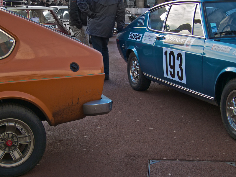 Fiat 128 coupe (left) and Audi 100 coupe