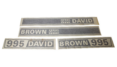 DAVID BROWN 995 SERIES BONNET DECAL SET