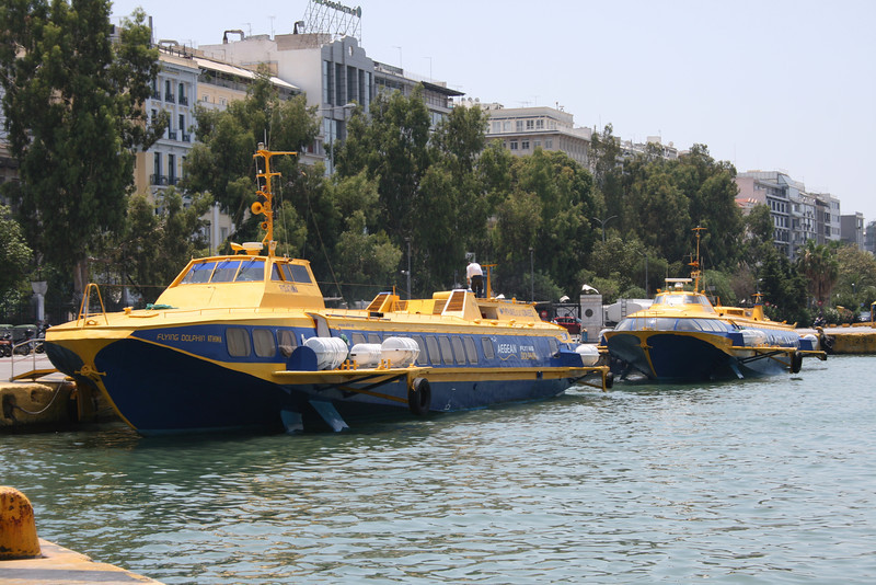 2011 - Hydrofoil FLYING DOLPHINS ATHINA and VENUS moored in Piraeus.