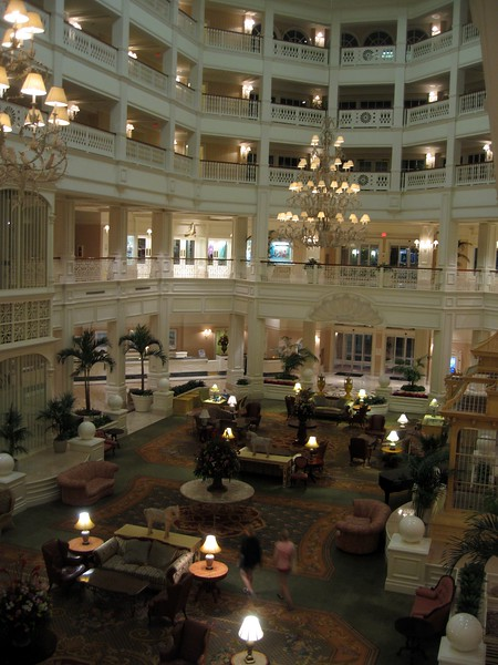 The Grand Lobby of Disney's Grand Floridian Resort & Spa, home of Victoria & Albert's